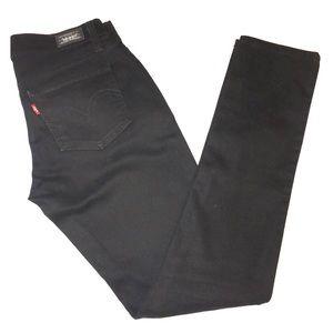 Levi's 524 too superlow black skinny jeans